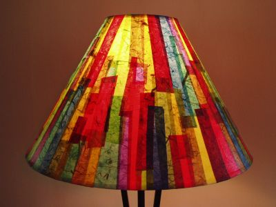 Bright Colorful Striped Shade Janet Wood 2005